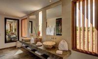 Abaca Villas His and Hers Bathroom with Mirror, Petitenget | 6 Bedroom Villas Bali