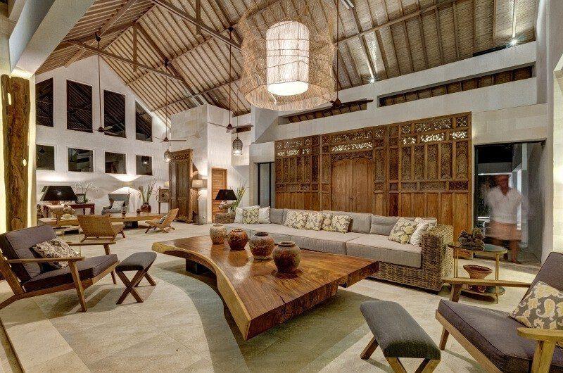 Abaca Villas Indoor Living Area, Petitenget | 6 Bedroom Villas Bali
