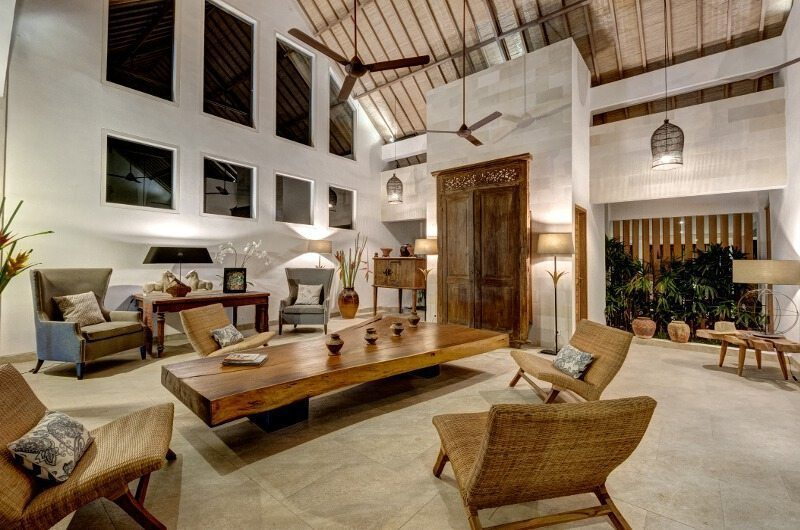 Abaca Villas Living Area, Petitenget | 6 Bedroom Villas Bali