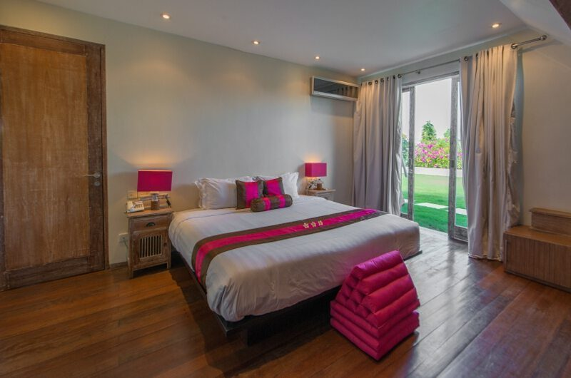 Casa Mateo Bedroom with Wooden Floor, Seminyak | 6 Bedroom Villas Bali