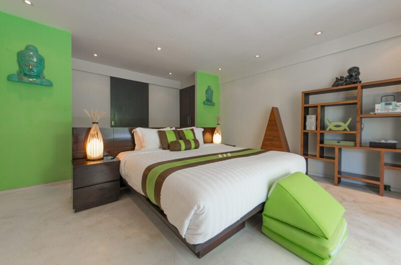Casa Mateo Bedroom with Table Lamps, Seminyak | 6 Bedroom Villas Bali