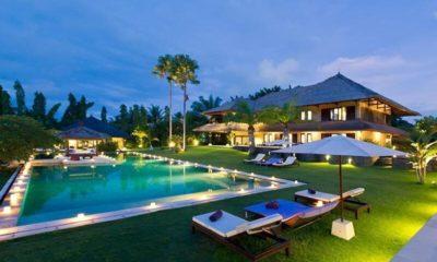 Chalina Estate Pool at Night, Canggu | 6 Bedroom Villas Bali