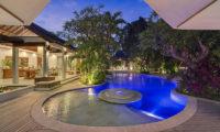 Lataliana Villas Pool at Night, Seminyak   6 Bedroom Villas Bali