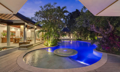 Lataliana Villas Pool at Night, Seminyak | 6 Bedroom Villas Bali