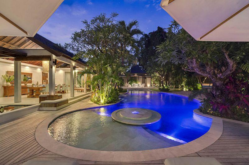 Lataliana Villas Pool at Night, Seminyak | 6 Bedroom Villas Bali