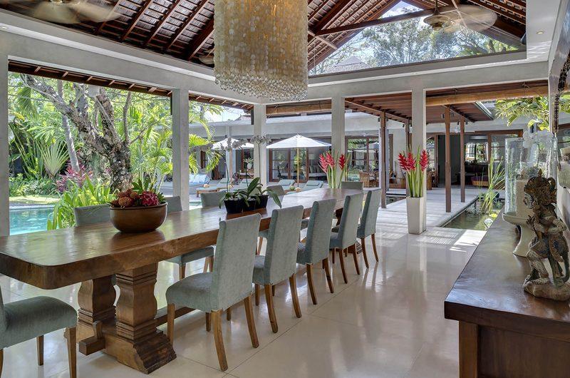 Lataliana Villas Pool Side Dining, Seminyak | 6 Bedroom Villas Bali
