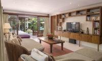 Lataliana Villas Lounge Area with TV, Seminyak   6 Bedroom Villas Bali