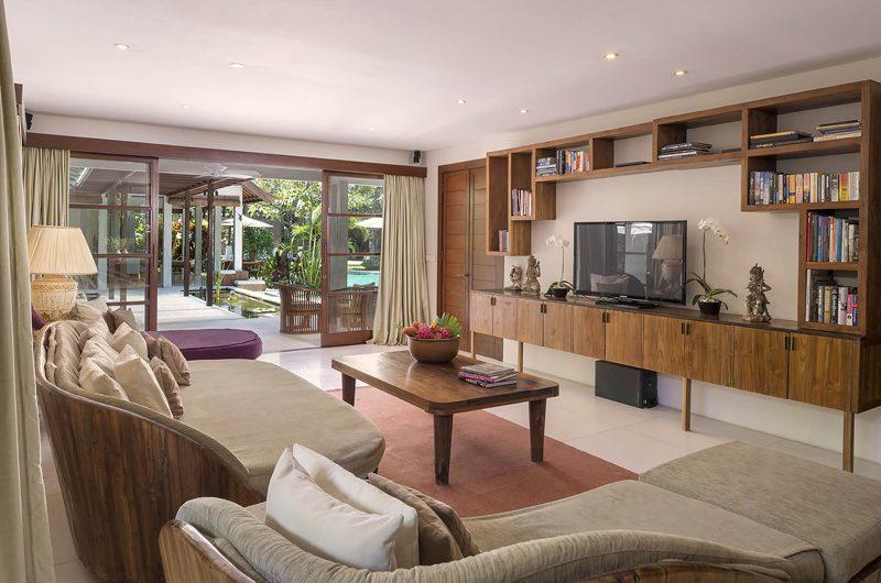 Lataliana Villas Lounge Area with TV, Seminyak | 6 Bedroom Villas Bali