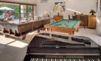 Lataliana Villas Living Area with Billiard Table, Seminyak   6 Bedroom Villas Bali