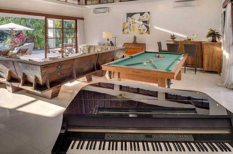 Lataliana Villas Living Area with Billiard Table, Seminyak | 6 Bedroom Villas Bali