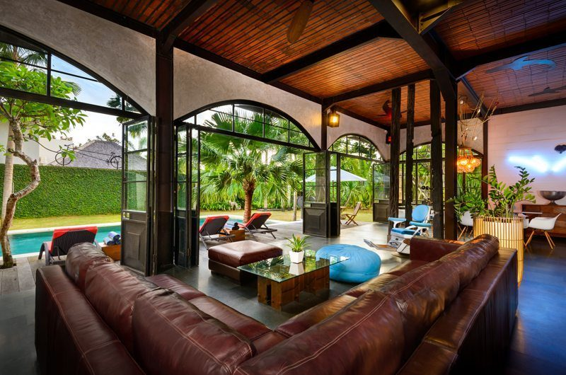 Niconico Mansion Living Area with Pool View, Petitenget | 6 Bedroom Villas Bali
