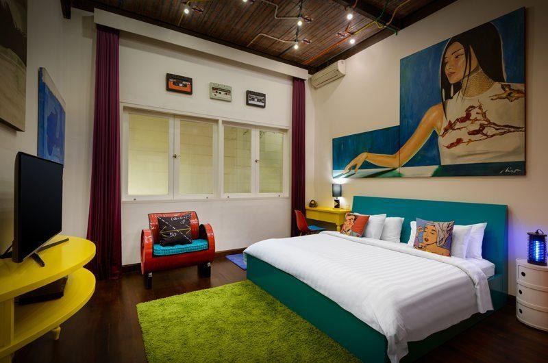Niconico Mansion Bedroom with TV, Petitenget   6 Bedroom Villas Bali