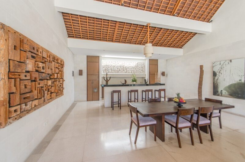 Nyaman Villas Indoor Dining Area, Seminyak | 6 Bedroom Villas Bali