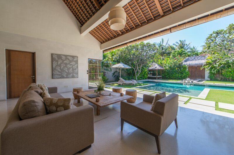 Nyaman Villas Living Area with Pool View, Seminyak | 6 Bedroom Villas Bali