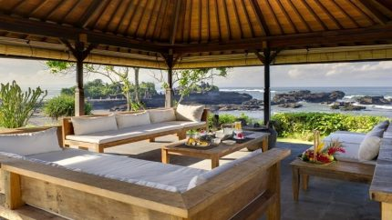 Impiana Cemagi Outdoor Seating Area with Sea View, Seseh | 6 Bedroom Villas Bali