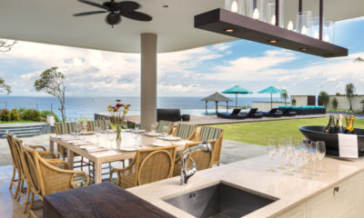 Pandawa Cliff Estate Dining Area with Pool View, Ungasan | 6 Bedroom Villas Bali