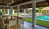 Seseh Beach Villas Dining Area with Pool View, Seseh | 6 Bedroom Villas Bali