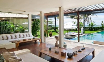 Shalimar Villas Living Area with Pool View, Seseh | 6 Bedroom Villas Bali