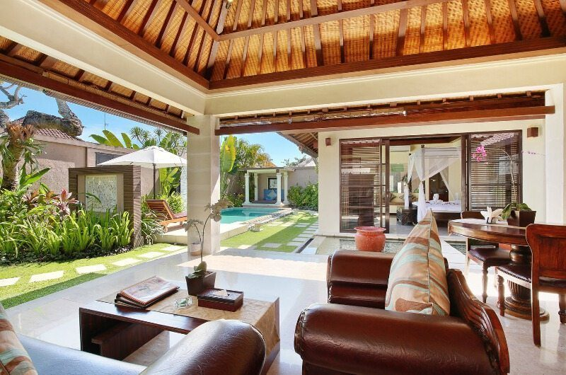The Bli Bli Villas Living Area with Pool View, Seminyak | 6 Bedroom Villas Bali