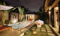 The Bli Bli Villas Pool Side Romantic Dinner Set Up, Seminyak | 6 Bedroom Villas Bali
