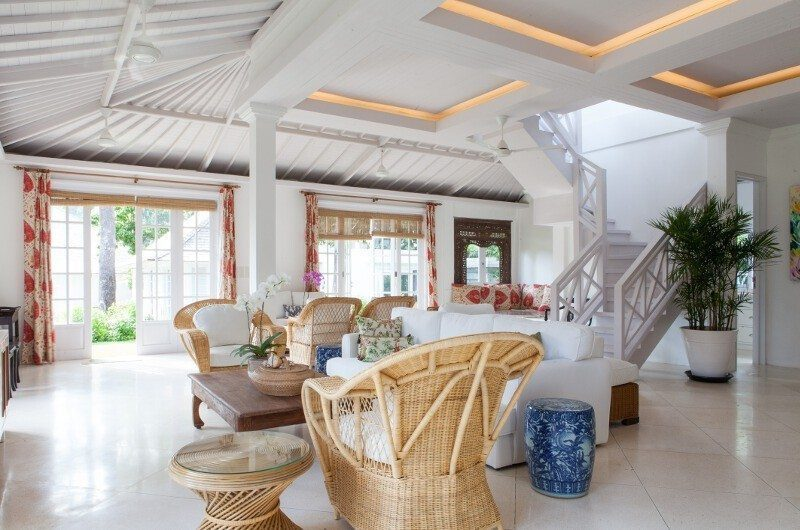 The Cotton House Living Area with Up Stairs, Seminyak | 6 Bedroom Villas Bali