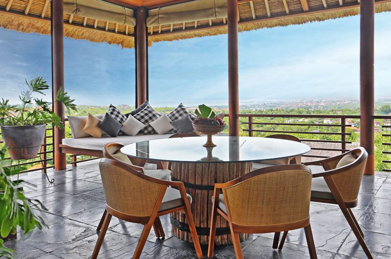 The Longhouse Lounge and Dining Area with View, Jimbaran | 6 Bedroom Villas Bali