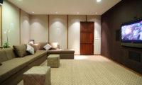 The Longhouse Lounge Area with TV, Jimbaran | 6 Bedroom Villas Bali