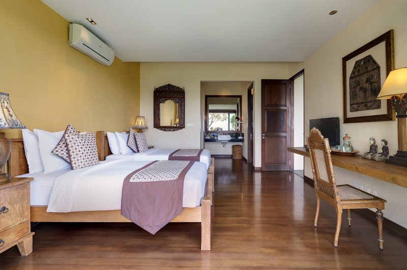 The Longhouse Twin Bedroom with Study Table, Jimbaran | 6 Bedroom Villas Bali