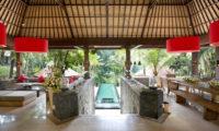 The Sanctuary Bali Pool View from Living Area, Canggu | 6 Bedroom Villas Bali