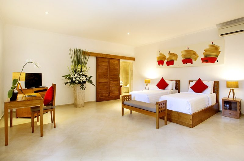 The Sanctuary Bali Twin Bedroom with TV, Canggu | 6 Bedroom Villas Bali