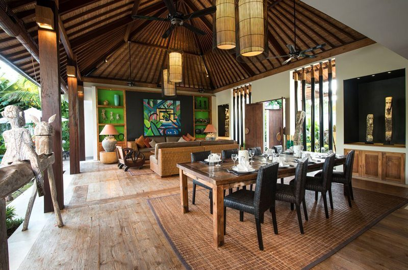 Villa Abakoi Indoor Living and Dining Area, Seminyak | 6 Bedroom Villas Bali