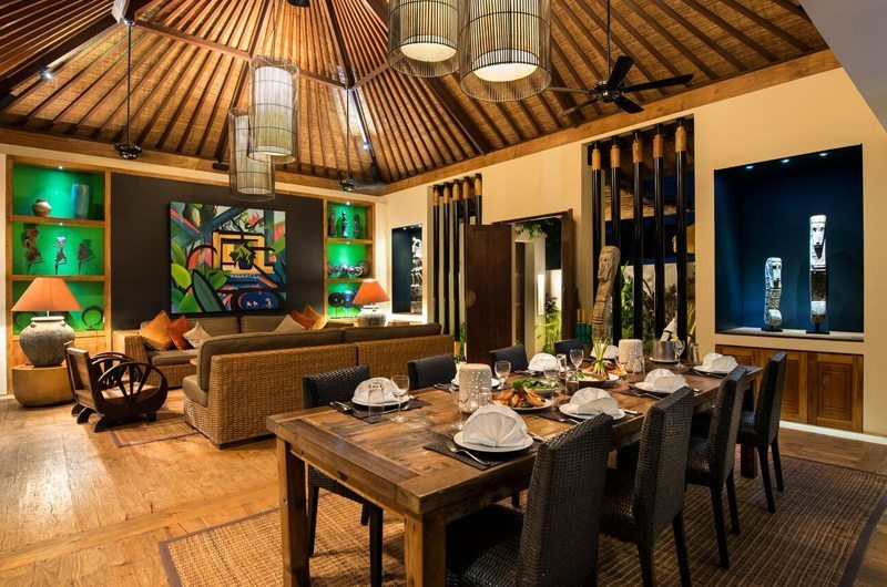 Villa Abakoi Living and Dining Area, Seminyak | 6 Bedroom Villas Bali