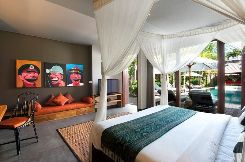 Villa Abakoi Bedroom with Seating Area, Seminyak | 6 Bedroom Villas Bali