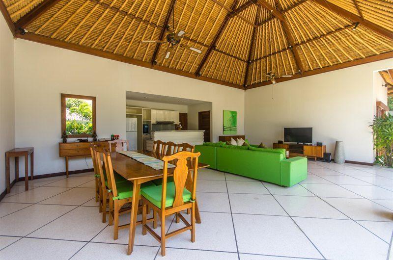 Villa Alore Living and Dining Area with TV, Seminyak | 6 Bedroom Villas Bali