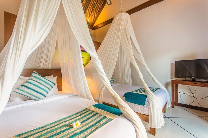 Villa Alore Bedroom with Twin Beds, Seminyak | 6 Bedroom Villas Bali