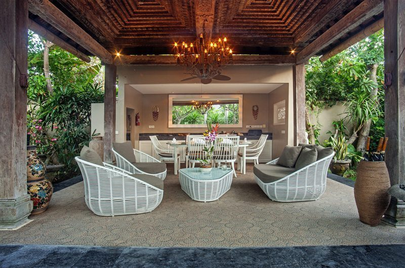 Villa Avalon Bali Outdoor Seating Area, Canggu | 6 Bedroom Villas Bali