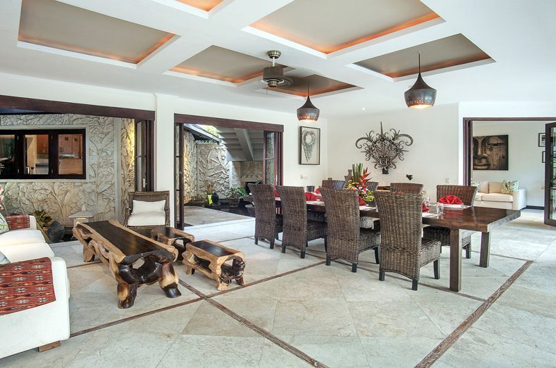 Villa Avalon Bali Living and Dining Area, Canggu | 6 Bedroom Villas Bali