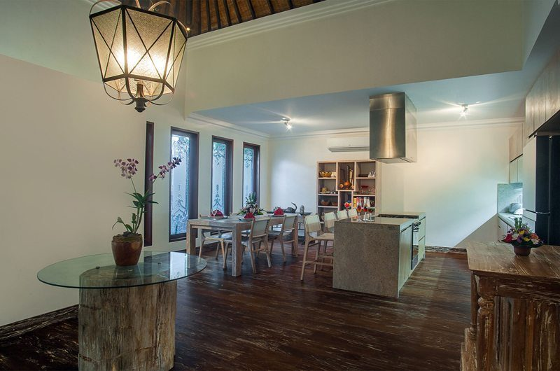 Villa Avalon Bali Kitchen and Dining Area, Canggu | 6 Bedroom Villas Bali