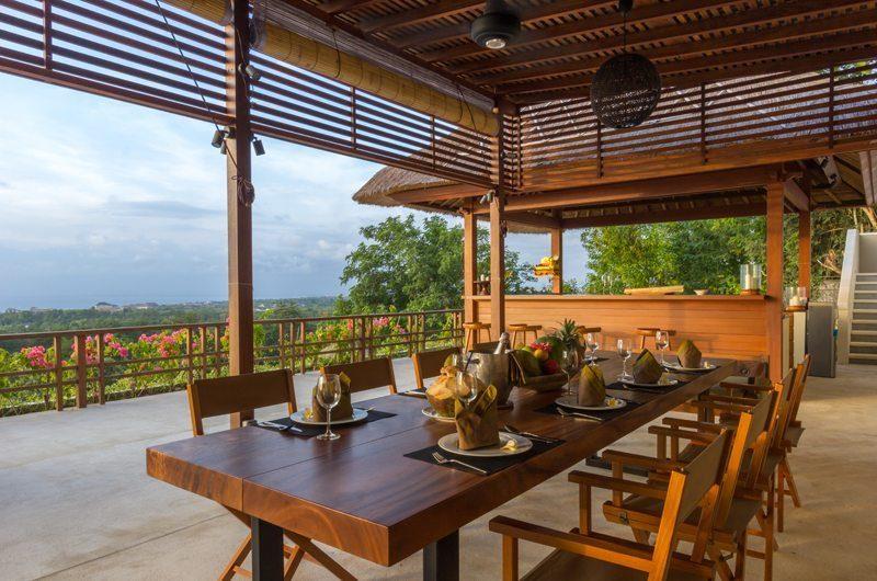 Villa Bayu Dining Area with View, Uluwatu | 6 Bedroom Villas Bali