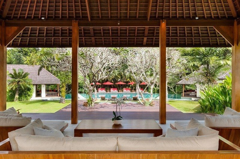 Villa Beji Open Plan Living Area, Canggu | 6 Bedroom Villas Bali