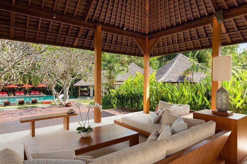 Villa Beji Pool Side Seating Area, Canggu | 6 Bedroom Villas Bali