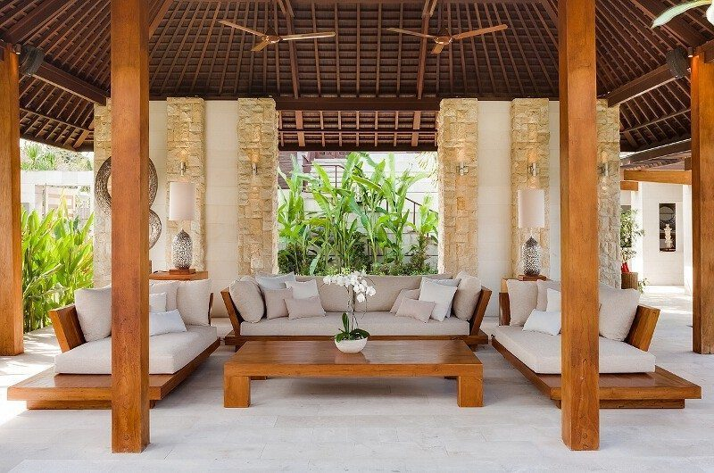 Villa Beji Living Area, Canggu | 6 Bedroom Villas Bali