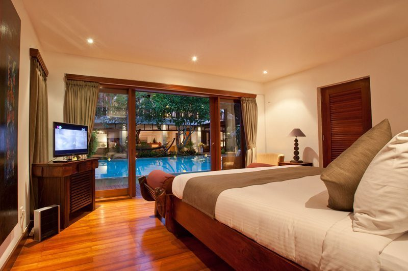 Villa Casis Bedroom with Pool View, Sanur | 6 Bedroom Villas Bali