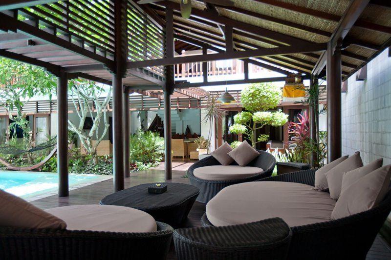 Villa Casis Outdoor Seating Area, Sanur | 6 Bedroom Villas Bali