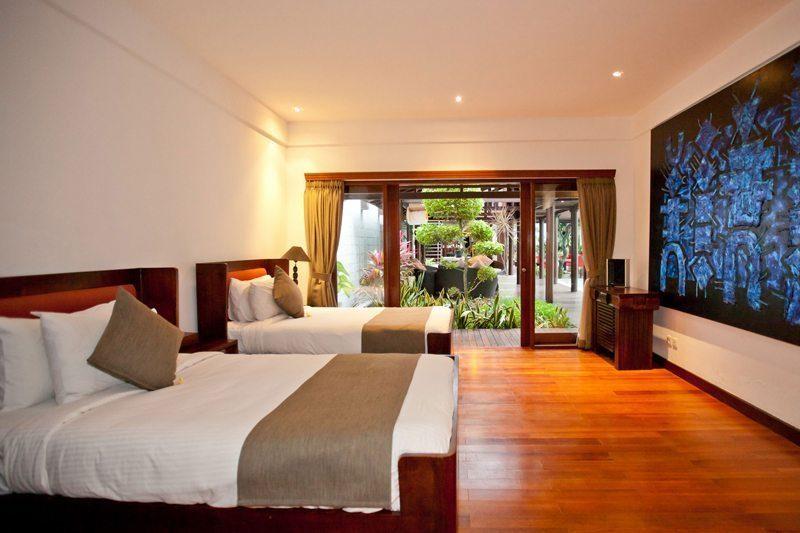 Villa Casis Bedroom with Twin Beds, Sanur | 6 Bedroom Villas Bali