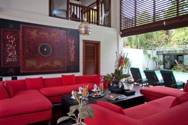 Villa Casis Living Area, Sanur | 6 Bedroom Villas Bali
