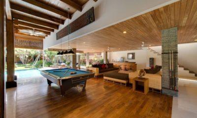 Villa Kinara Living Area with Billiard Table, Seminyak | 6 Bedroom Villas Bali