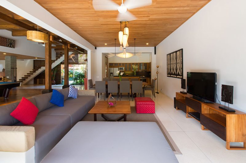 Villa Kinara Living and Dining Area, Seminyak | 6 Bedroom Villas Bali