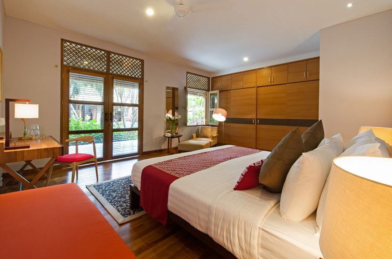 Villa Kinara Bedroom with Study Table, Seminyak | 6 Bedroom Villas Bali