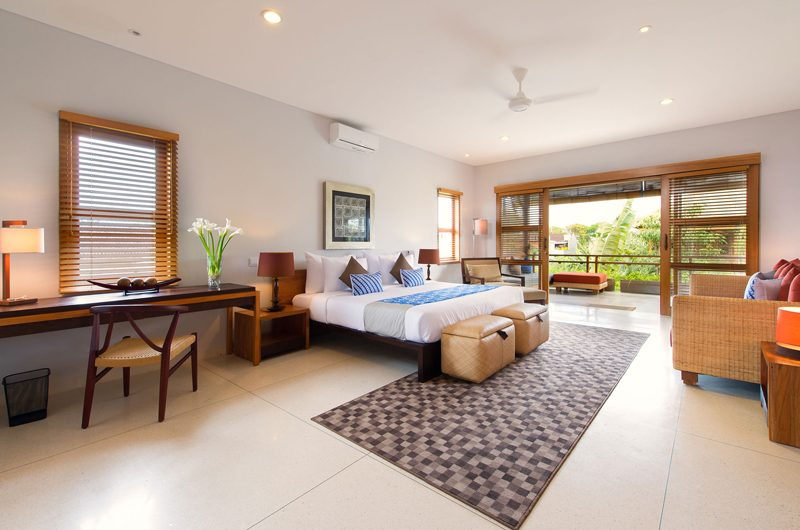 Villa Kinara Spacious Bedroom and Balcony, Seminyak | 6 Bedroom Villas Bali